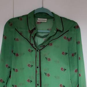 UO Clementine Sheer Buttondown Shirt